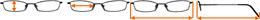 Taille de la monture des lunettes